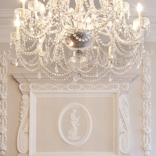 elegant white chandelier