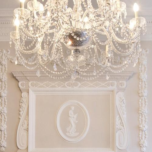 elegant white chandelier