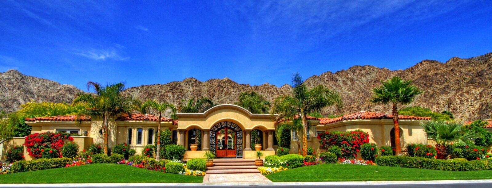 Sprawling, sunny, Spanish style estate