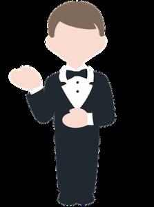 nondescript, generic cartoon image of a butler